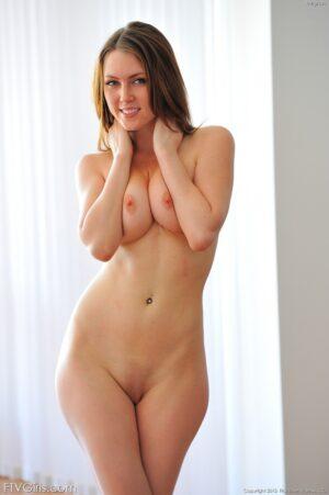 Brunette hottie Meghan upskirt and flexible shots