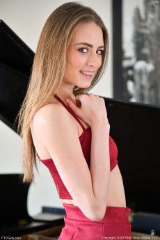 Skinny horny coed Skyler upskirt teasing and masturbating with her toy