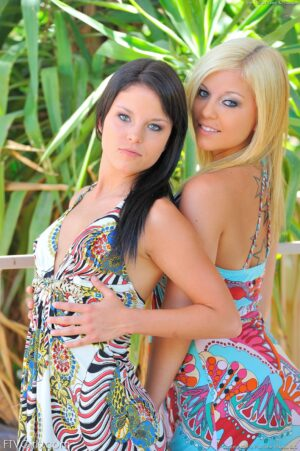 Haley and Hayden pose and play